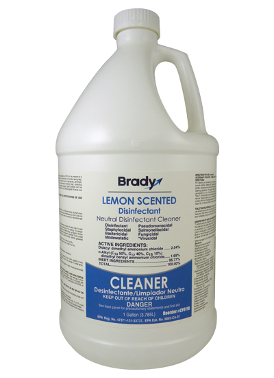 Brady Lemon Scented Disinfectant