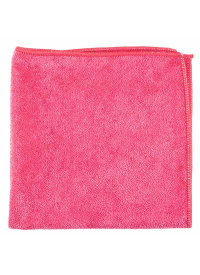 Microfiber General Purpose Cloth Red 16X16 10PK