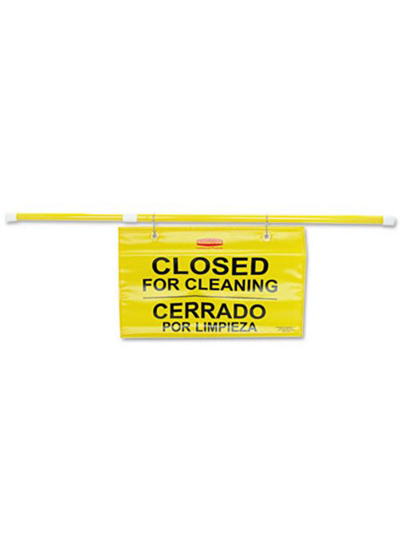 Rubbermaid Hanging Sign with-Closed For Cleaning Imprint